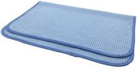 Микрофибра протирочная (вафельное плетение), голубая, 40 х 60 см